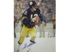 Terry Bradshaw signed Pittsburgh Steelers 16x20 Photo in the Snow- JSA Hologram (black jersey)