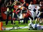 Knowshon Moreno signed Denver Broncos 16x20 Photo (orange jersey TD dive)- Moreno Hologram
