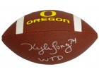 Kyle Long signed Oregon Ducks Brown Logo Football WTD