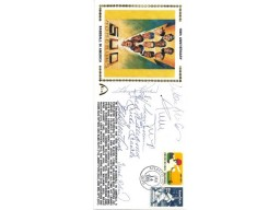 500 HR (9 Signatures) Autographed First Day Cover Mickey Mantle, Ted Williams & Willie Mays JSA #B86913