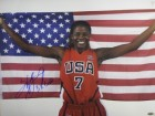 Sheryl Swoopes signed 16x20 Photo Team USA Olympics w/ US Flag 3X Gold (WNBA Basketball)