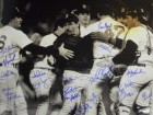 Oil Can Boyd signed Boston Red Sox 16x20 B&W Photo 1986 AL Champs w/ 19 Signatures