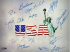 Sheryl Swoopes signed Olympic Winners 16x20 Photo w/ 15 signatures (14 Team USA)