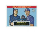 Ryan Braun & Yovani Gallardo 2007 Topps '52 Rookie Card