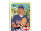 Tom Glavine Autographed/Signed 1989 Topps Card