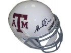Mike Evans signed Texas A&M Aggies Authentic Schutt TB White Mini Helmet