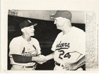 Johnny Keane & Walter Alston Original Associated Press Wire Photo