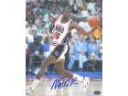 Magic Johnson signed Team USA Olympic Dream Team 8X10 Photo Dribble