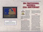 1994 Professional Baseball 125th Anniversary Patch on a Commemorative Card