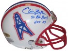 Elvin Bethea signed Houston Oilers TB Replica Mini Helmet dual 8X Pro Bowl & HOF 2003
