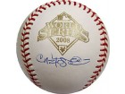 Carlos Pena Autographed/Signed 2008 World Series Baseball