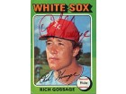 Rich Gossage Autographed / Signed 1975 Topps No.554 Baseball Card