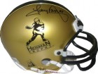 Tony Dorsett signed Heisman Logo Gold Riddell NCAA Mini Helmet (Pittsburgh Panthers) - Tri-Star Hologram
