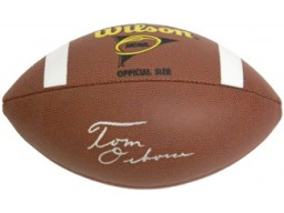 Tom Osborne signed NCAA Wilson Replica Composite Football  (Nebraska Cornhuskers)