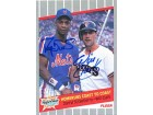 Darryl Strawberry & Will Clark Autographed / Signed 1989 Fleer Card