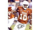 Vince Young Autographed / Signed Running with the Ball 8x10 Photo