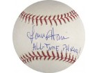 Lenny Harris All Time PH King Autographed / Signed Baseball