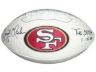 Dwight Clark signed San Francisco 49ers White Panel Logo Football The Catch 1.10.82