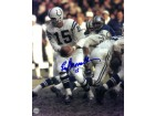 Earl Morrall signed Baltimore Colts 8X10 Photo #15 (hand off)