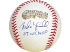 Mike Lowell 07 WS MVP Autographed / Signed 2007 World Series Baseball