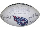 Kevin Dyson signed Tennessee Titans Logo Football Music City Miracle & 1999 AFC Champs