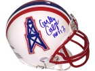 Curley Culp signed Houston Oilers TB Riddell Mini Helmet HOF 13