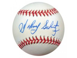 Johnny Schmitz Autographed AL Baseball Red Sox, A's PSA/DNA #S52732
