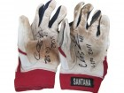 Carlos Santana Autographed Game Used Batting Gloves