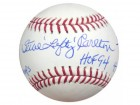 Steve Carlton Autographed Official MLB Baseball Philadelphia Phillies Statball With 6 Stats PSA/DNA Stock #20910