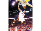 Dwyane Wade Autographed / Signed 1 Hand Dunk 16x20 Photo