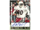 Leeland McElroy signed 1996 2nd Round Draft Pick Scoreboard Football Card (Texas A&M Aggies)