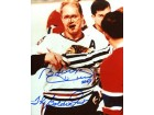 Bobby Hull The Golden Jet Autographed / Signed Bloody Nose 8x10 Photo
