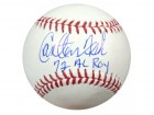 "Carlton Fisk Autographed Official MLB Baseball Boston Red Sox ""72 AL ROY"" PSA/DNA Stock #28154"
