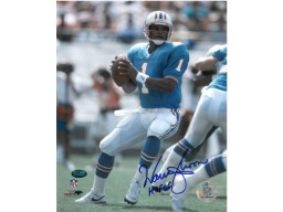 Warren Moon signed Houston Oilers 8x10 Photo HOF06 (powder blue jersey)