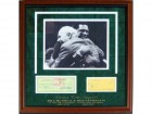 Bill Russell And Red Auerbach Autographed Framed Checks with Unsigned 11x14 Photo