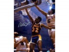 Magic Johnson Autographed 16x20 Photo Los Angeles Lakers VS. Dr. J PSA/DNA Stock #30874