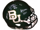 Robert Griffin III signed Baylor Bears Riddell Speed Full Size Authentic Matte Green Helmet #10 Heisman 2011- JSA Witnessed Holo