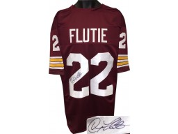 Doug Flutie signed Maroon TB Custom Stitched College Football Jersey (Heisman) XL- JSA Hologram