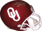 Adrian Peterson signed Oklahoma Sooners Riddell Full Size Rep Helmet #28- Fanatics Hologram (Silver sig)