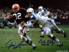 Jim Brown HOF 71 & Bob Lilly HOF 80 Autographed / Signed 8x10 Photo