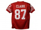 Dwight Clark Autographed San Francisco 49ers XL Red Jersey BAS