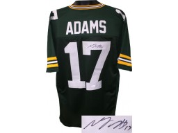 Davante Adams signed Green Custom Stitched Pro Style Football Jersey #17 XL- JSA Witnessed Hologram