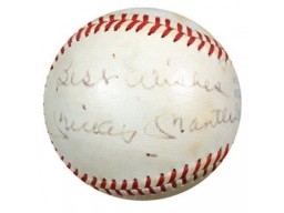 "Mickey Mantle Autographed AL MacPhail Baseball New York Yankees ""Best Wishes"" PSA/DNA #K39383"