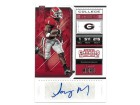 Sony Michel signed Georgia Bulldogs 2018 Panini Contenders Draft Picks College Ticket Football Rookie Card (RC) #141 (Patriots)