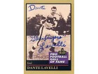 Dante Lavetti Autographed 1991 ENOR Pro Football Hall of Fame Card