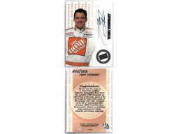 Tony Stewart signed NASCAR 1999 Press Pass Authentics Signings Rookie Racing Card (RC)- LTD 255/500