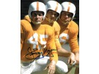 Johnny Majors signed Tennessee Volunteers Vintage Color 8x10 Photo minor smudge