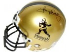 Tony Dorsett signed Heisman Gold Authentic Mini Helmet (Pittsburgh Panthers-left side sig)- BAS- Beckett Hologram