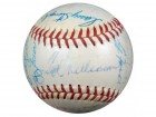 1959 AL All Star Game Autographed AL Harridge Baseball With 26 Signatures Including Mickey Mantle & Ted Williams JSA #B64126