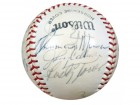 1972 New York Yankees Autographed Wilson Baseball With 20 Signatures Including Thurman Munson PSA/DNA #Q07482
